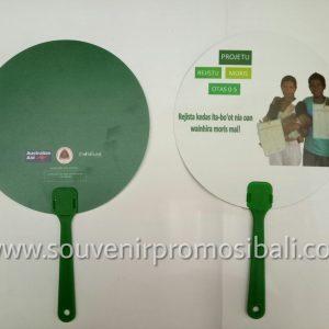 Kipas Plastik PVC Whisnu 5 Souvenir Promosi Bali