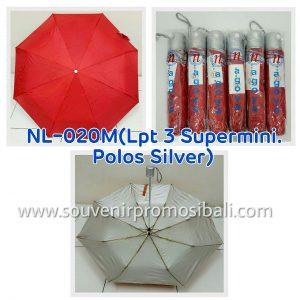 Payung NL-020M LPT 3 Supermini Polos Silver