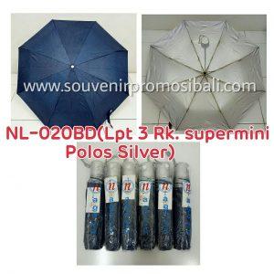 Payung NL-020BD LPT 3 RK Supermini Polos Silver