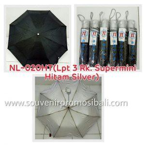 Payung NL-020HT LPT 3 RK Supermini Hitam Silver