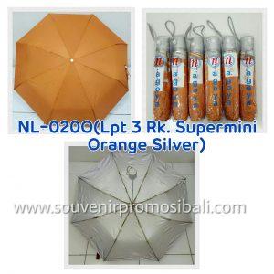Payung NL-0200 LPT 3RK Supermini Orange Silver