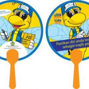 Kipas Plastik PVC Whisnu 6 Souvenir Promosi Bali